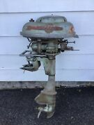 Wizard Twin Boat Outboard Motor All Original Vintage Wg4 Parts Pickup Only Pa