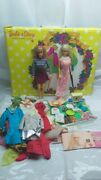 Vintage 1960s Mattel Barbie And Stacey Sleep N Keep Case Doll Clothing Lot