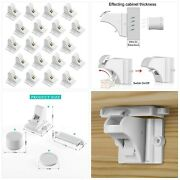 20 Pack Magnetic Cabinet Locks Baby Proofing - Vmaisi Children Proof Cupboard Dr