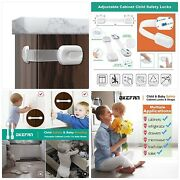Child Safety Cabinet Strap Locks - 12 Pack Baby Proofing Adhesive Latches