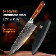 8.5 Inch Japanese Vg10 Chef Knife Kitchen 67layer Damascus Blade Steel Knive