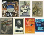 Lot Of 7 Books On The Blues Music Biographies History Mctell Leadbelly Clapton +