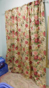 Vintage Constance-pair Of Lined Drapes Curtains-2 Panels And Tiebacks