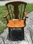 Vtg Heywood Wakefield Brace Back Windsor Style Chairs- 3 Arm Style-available