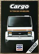 Iveco Ford Cargo 24 Ton Six Wheelers Commercial Sales Brochure 1989 C5f/89