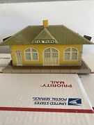 Marx 2979 Oak Park Train Station Tin Lithographed Yellow With Diesel Horn 1951
