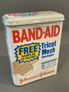 Vintage Band-aid Metal Tin - New In Wrappers - Tricot Mesh - Free Samples