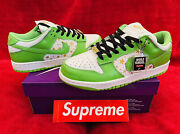 Nike Sb Dunk Low Supreme Stars Mean Green 2021 Chaussures Shoes Vert