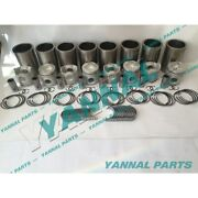 Free Shipping Ef750 Cylinder Liner Kit With Bearing Set For Hino Engine