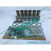 For Komatsu Engine Parts 6d155 S6d155 Repair Kit With Full Gasket Set
