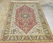 6and039x 4and039 Hand-knotted Caucasian Herez Tribal Antique-finish Fine Woolreversible