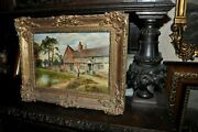 Fine 19th Century And039and039 Lovely Landscape Cottage And039and039 By Artist Parsons