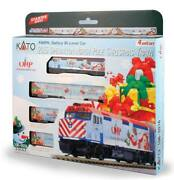 Kato-operation North Pole Train-only Set - Standard Dc -- F40ph Loco And 3 Cars, M