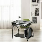 Modern Furniture Computer Desk With Casters Home Office Dormitory Study Table
