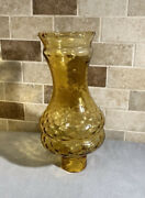 """Vintage 10"""" Amber Glass Hurricane Oil Lamp Shade Replacement"""