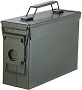 Huarui Metal Ammo Case Can Andndash Military And Army Solid 30cal Green-30cal