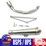 Motorcycle Exhaust Muffler Pipe For Honda Ruckus Zoomer Gy6 125cc-150cc Scooter