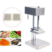 25w Commercial French Fry Potato Cutter Machine Stainless Steel With 3 Blades