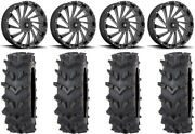 Msa Blade 20 Wheels Milled 35 Outback Maxand039d Tires Polaris Rzr Turbo S / Rs1