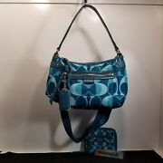 Pre-owned Coach Daisy Dream C Print Crossbody With Matching Small Zip Wallet