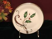 4 Lenox Holiday Nouveau White Butter Plates New Usa Free Shipping