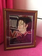 Michael Jackson Authentic 1990andrsquos Framed Autograph With Certificate Vgc