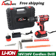 20v Electric Drill 3/8 Power Cordless Screwdriver 31pcs Drill Set With Battery