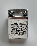 Antique Sterling Silver Miniature Coal Scuttle Ring Box, Britton Gould And Co 1904