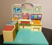 Vintage Toy Office Jumbos Barbie Sindy Compatible 1980's Play Set Rare Working