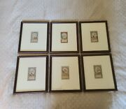 Antique Copperplate Engraving Hand Colored 18th Century Zodiac Wall Art J.w.meil