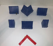 Playmobil 3200 Supermarket Grocery Store Replacement Blue Roof Pieces