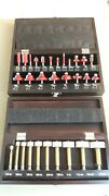 Sears Craftsman 75th Anniversary 2 Sets Of Coated Fostner Drill And Router Bits
