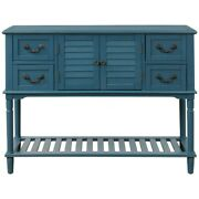 Wood Sideboard Buffet Entryway Console Table W/shelf 4 Drawers 2 Cabinet Kitchen