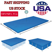 Us 10ft6ft.9in Pe Pool Cover For Rectangular Above Ground Pools 58106 Bestway