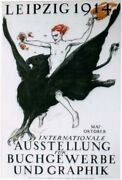 Original Vintage Poster Leipzig Graphics And Books Expo Eagle 1914