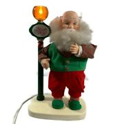"""National Rennoc Collectable Animated Santa Claus 19"""" Tall Vintage Street Lamp"""