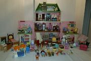 Fisher Price Loving Family Mansion Dollhouse Huge Lot 138 Piece Furniture Dolls