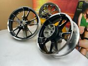 🔥genuine 09-21 Harley Touring New Style Enforcer Rims 19 Front And 18 Rear Oem