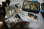 1977 Kenner Star Wars Mini-action Figure Collector's Case With Lot Of 12 Figures