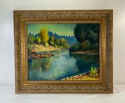 Vintage California Landscape Oil Painting By John Dominique Listed Artist