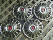 Four 1968 68 Ford Mustang Hubcaps Wheelcovers Center Caps Vintage Classic
