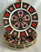 Set 6 Royal Crown Derby Old Imari 1128 Bread And Butter Plates English Bone China