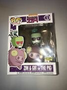 Funko Pop Rides Hot Topic Exclusive Invader Zim And Gir On The Pig Figure Toy