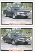 1967 Chevy Impala Ss427 Baseball Card Sized Cards - Must See - Lot Of 2