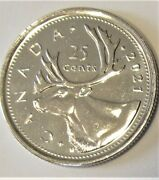 2021 Canada Quarter Unc Coin From Winnipeg Mint Roll - Combined Shipping