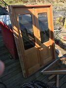 Teak Marine Boat Yacht Exterior French Door Assembly - Complete With Jam