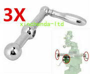 3set Milling Machine Parts Three Ball Crank Table Handle For Bridgeport X Y Axis