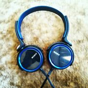 Sony Mdr-xb400 Extra Bass Over The Head 30mm Driver Headphone, Black/blue Body