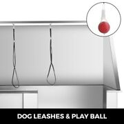 50 Inch Electric Pet Dog Grooming Tub With Sprayer Stainless Steel Dog Wash Bath