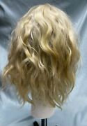 Size 9-10 Blonde Luxury Angora Mohair Wig For Antique Doll - Hand Made